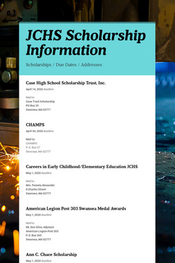JCHS Scholarship Information