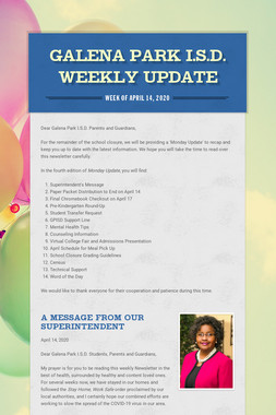 Galena Park I.S.D. Weekly Update