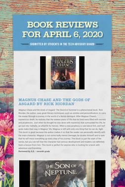 Book Reviews for April 6, 2020