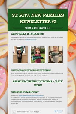 ST. RITA NEW FAMILIES NEWSLETTER #2