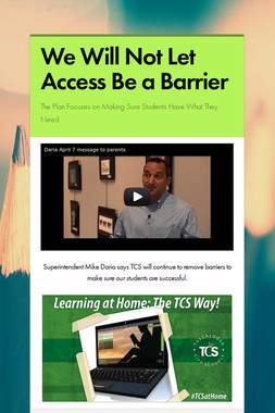 We Will Not Let Access Be a Barrier