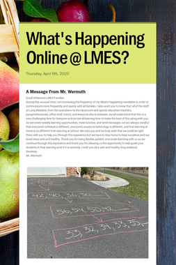 What's Happening Online @ LMES?