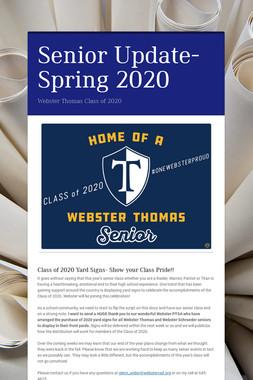 Senior Update- Spring 2020