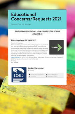 Educational Concerns/Requests 2021
