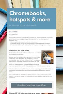 Chromebooks, hotspots & more