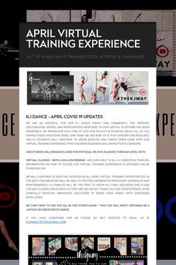 APRIL VIRTUAL TRAINING EXPERIENCE