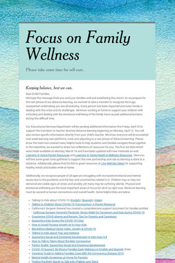 Focus on Family Wellness