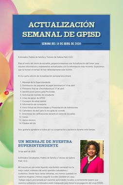 Actualización semanal de GPISD