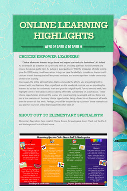 Online Learning Highlights