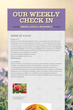 Our Weekly Check In