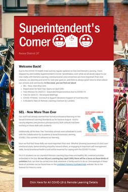 Superintendent's Corner 😀🏫😀