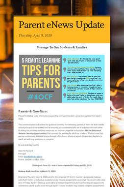 Parent eNews Update