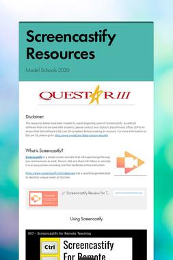 Screencastify Resources