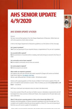 AHS SENIOR UPDATE 4/9/2020