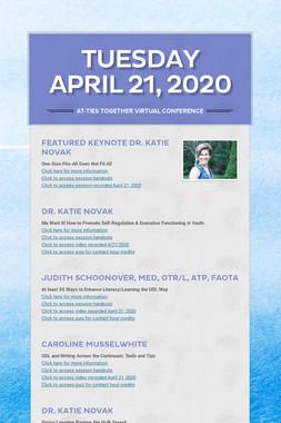 Tuesday April 21, 2020