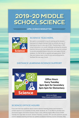 2019-20 Middle School Science