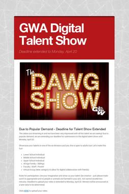 GWA Digital Talent Show