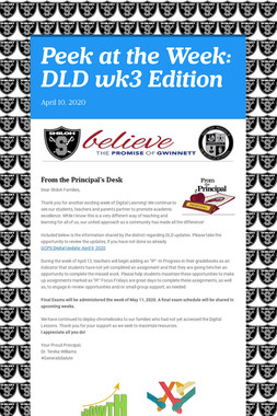 Peek at the Week: DLD wk3 Edition