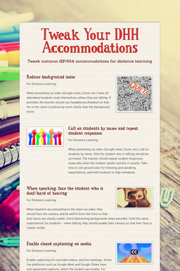 Tweak Your DHH Accommodations