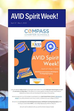 AVID Spirit Week!