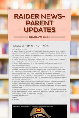 Raider News- Parent Updates