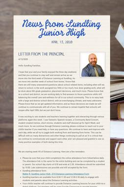 News from Sundling Junior High