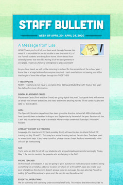 Staff Bulletin