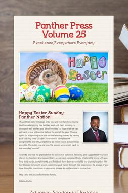 Panther Press Volume 25