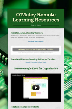 O'Maley Remote Learning Resources