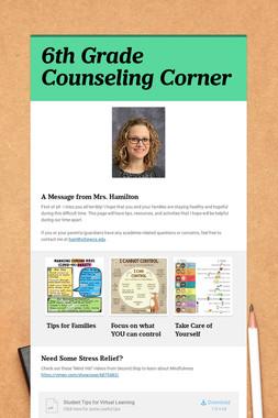 6th Grade Counseling Corner