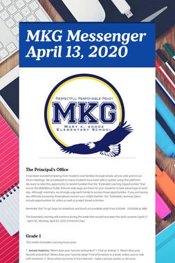MKG Messenger April 13, 2020