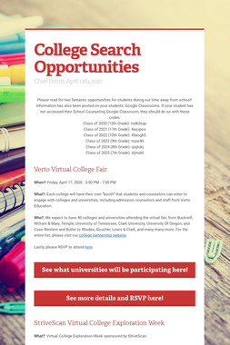 College Search Opportunities