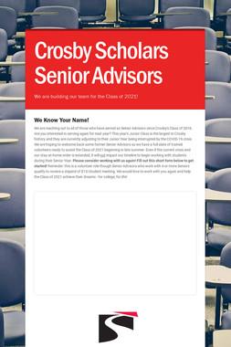 Crosby Scholars Senior Advisors