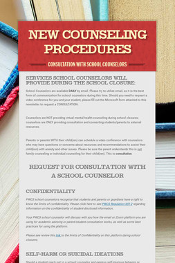 New Counseling Procedures