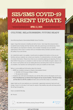 SIS/SMS COVID-19 Parent Update