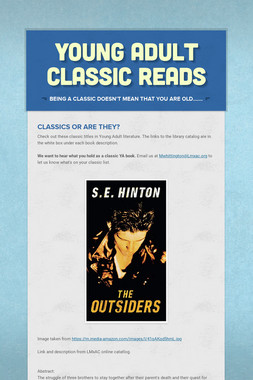 Young Adult Classic Reads