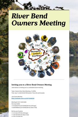 River Bend Owners Meeting
