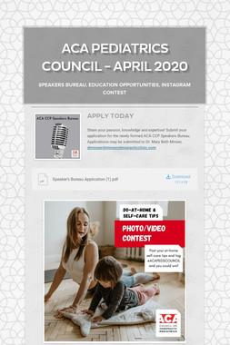 ACA Pediatrics Council - April 2020