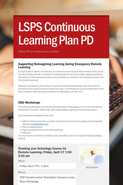 LSPS Continuous Learning Plan PD