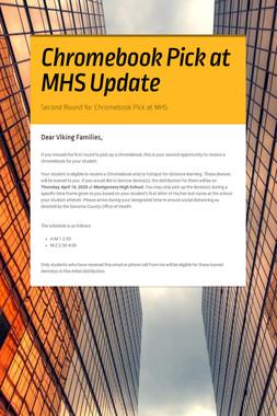 Chromebook Pick at MHS Update