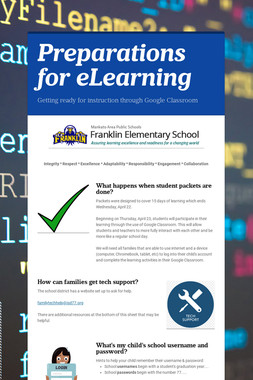 Preparations for eLearning