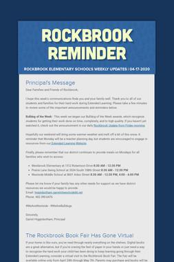 Rockbrook Reminder