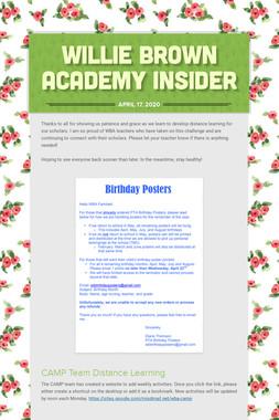 Willie Brown Academy Insider