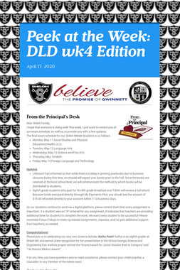 Peek at the Week: DLD wk4 Edition