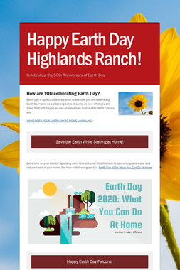 Happy Earth Day Highlands Ranch!