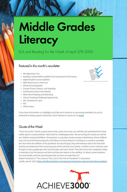 Middle Grades Literacy