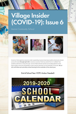 Village Insider (COVID-19): Issue 6