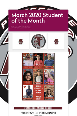 March 2020 Student of the Month