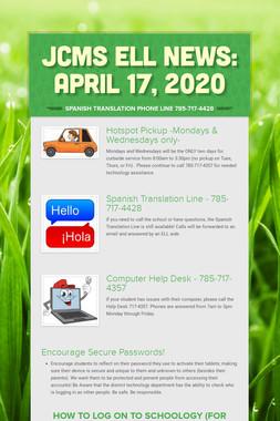 JCMS ELL News: April 17, 2020
