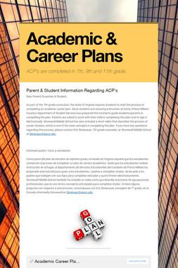 Academic & Career Plans
